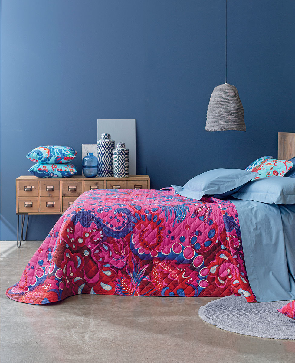 Quilted bedspread Matisse single bed